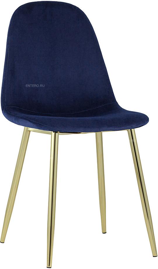 Стул Stool Group Валенсия велюр синий золотые ножки