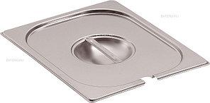 Крышка для гастроемкости MACO E16CS GN 1/6 (176х162) с отверстием для ложки, нерж. сталь