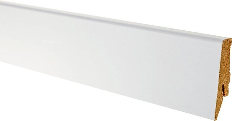 Плинтус GreFF 1002/58 белый под покраску прямой
