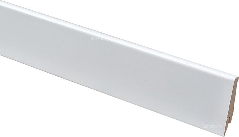 Плинтус GreFF 1004/80 белый глянец