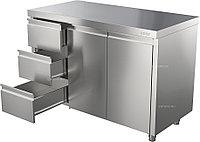 Стол производственный ATESY СТ-С-1200.600-02-Р-3Л с ящиками