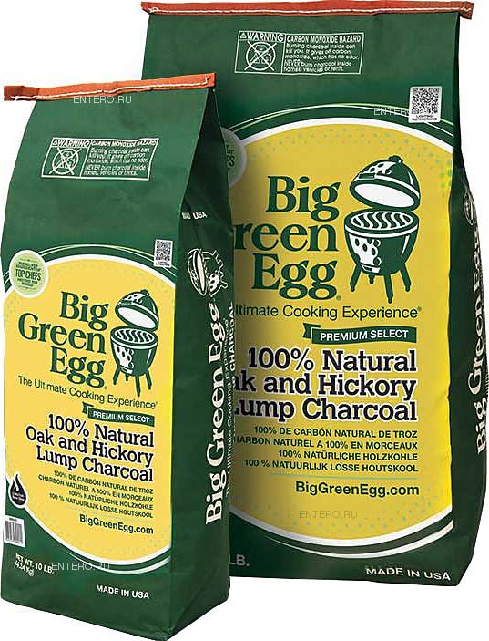 Уголь органический Big Green Egg CP10