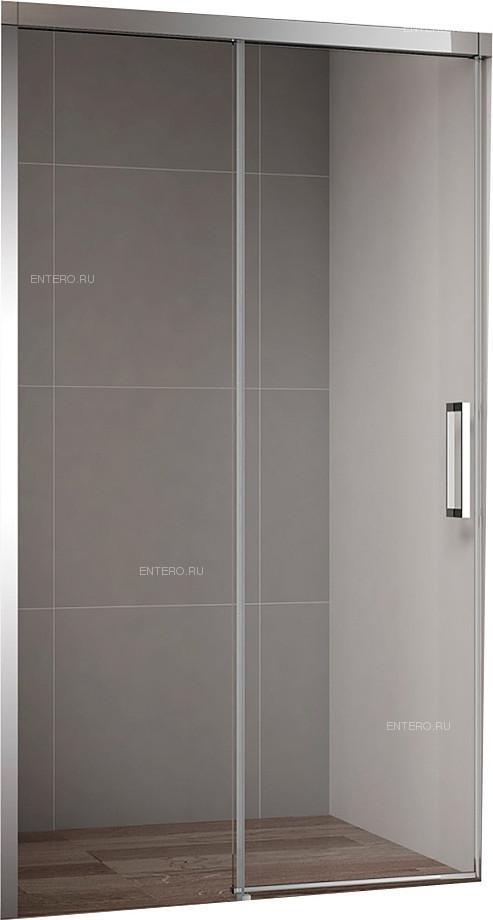 Дверь душевая CEZARES DUET SOFT-BF-1-160-C-Cr 160х195 см, в нишу, раздвижная