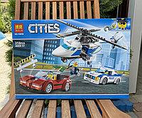 Конструктор Bela Cities 10656 Стремительная погоня аналог LEGO Cities