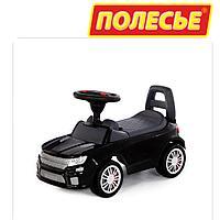 Детская машинка толокар Полесье SuperCar №6 черный