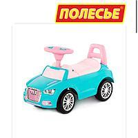 Детская машинка толокар Полесье SuperCar №2 бирюзовый