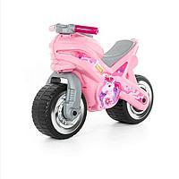 Детский мотоцикл толокар Полесье МХ розовый