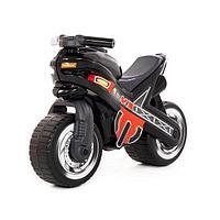 Детский мотоцикл толокар Полесье МХ черный