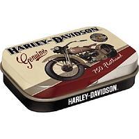 """Драже мятные в коробке """"Harley-Davidson Flathead""""."""