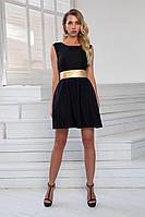 Женское летнее черное нарядное платье DoMira 01-603 черный 44р.