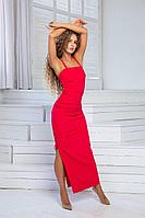 Женское летнее красное нарядное платье DoMira 01-605 бордовый 42р.