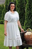 Женское летнее белое нарядное большого размера платье MadameRita 5138 белый 52р.