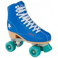 Ролики-квады Rollschuh Roller Disco, цвет синий/зелёный, размер 36