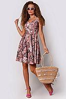 Женское летнее розовое нарядное платье PATRICIA by La Cafe NY14593-1 пудровый,черный 42р.