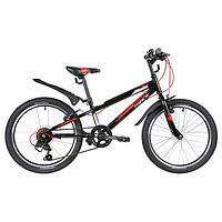 """Велосипед 20"""" Novatrack Racer, 2020, 6 ск., цвет чёрный"""