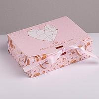 Коробка складная подарочная «С любовью», 16.5 × 12.5 × 5 см