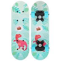 Скейтборд детский «Динозавр» 44 × 14 см, колёса PVC 50 мм, пластиковая рама