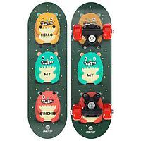 Скейтборд детский «Монстры» 44 × 14 см, колёса PVC 50 мм, пластиковая рама