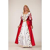 Карнавальный костюм «Королева», платье, корона (диадема), р. 46, рост 170 см
