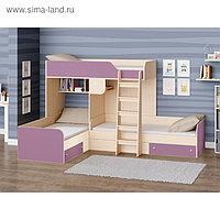 Детский комплекс «Трио», цвет дуб молочный/фиолетовый