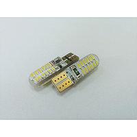 Лампа светодиодная Т10 (W2,1-9,5d) белая, 24 SMD 3014, силикон, CANBUS обманка, 12В