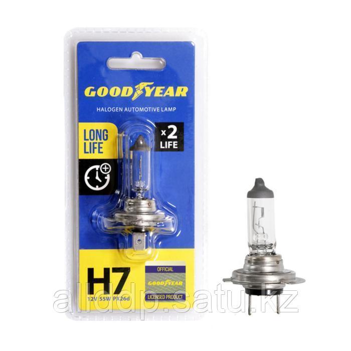 Лампа автомобильная Goodyear Н7 12V 55W PX26d Long Life, блистер