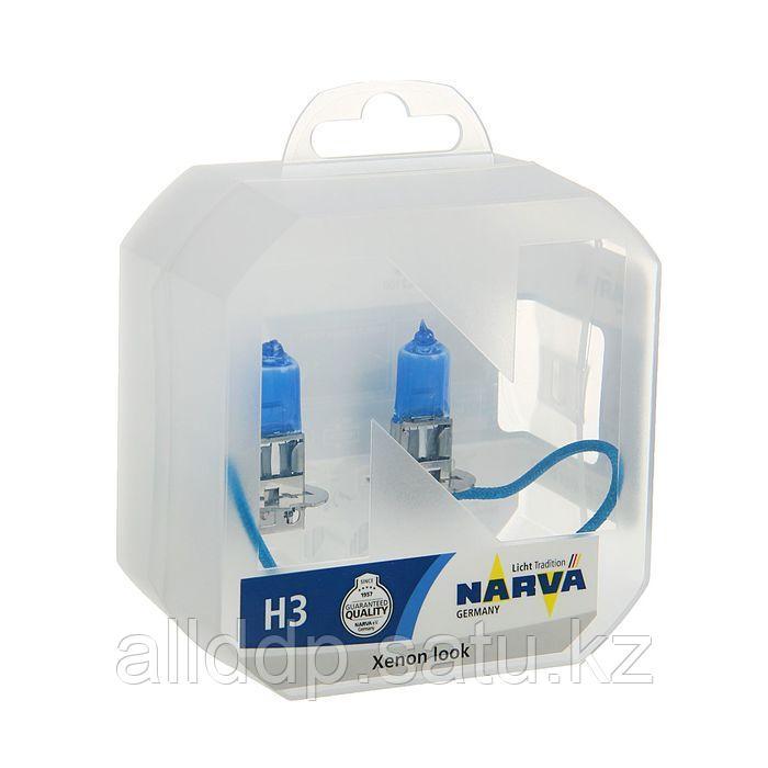 Лампа автомобильная Narva Range Power White RPW, H3, 12 В, 55 Вт, набор 2 шт