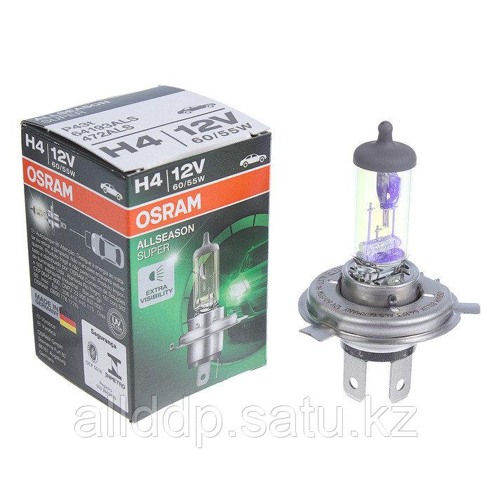 Лампа автомобильная Osram Allseason, H4, 12 В, 60/55 Вт, P43t