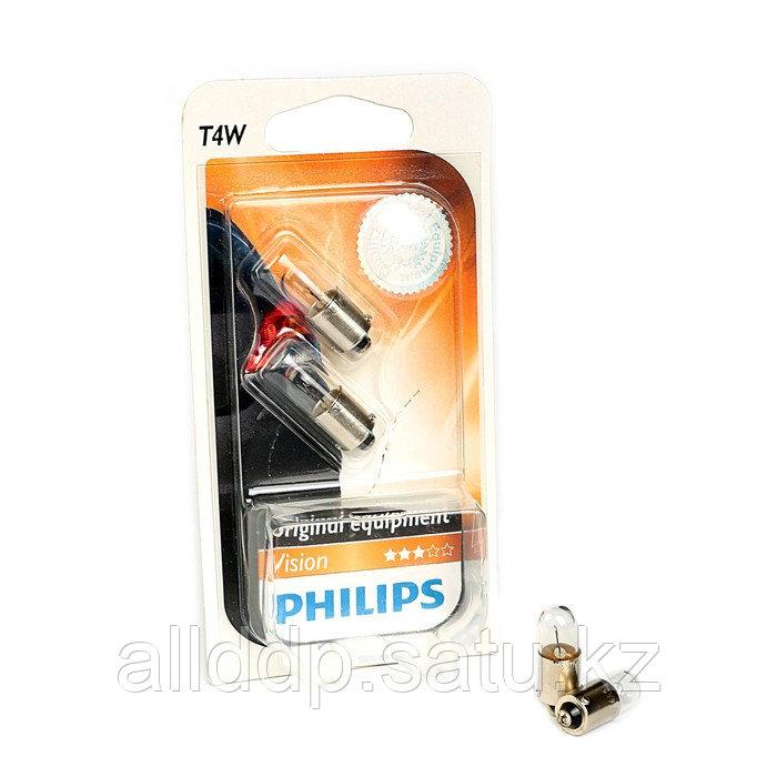 Автолампа PHILIPS T4W (BA9s), 12 В, 12929 B2, 2шт.