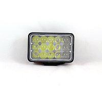 Фара светодиодная OFF ROAD, KS-WSQ315S-L, 15 диодов, 45 Вт, линза, направленный свет, ближний/дальни ...