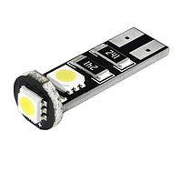 Лампа светодиодная T10(W5W), 12В обманка 3 SMD диода, CANBUS без цоколя Skyway,