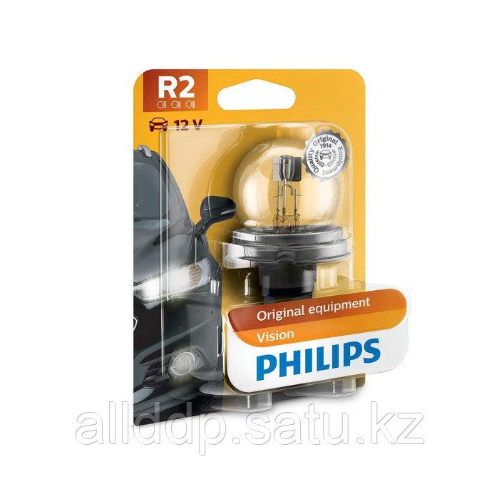 Лампа автомобильная Philips, R2, 12 В, 45/40 Вт, 12620B1