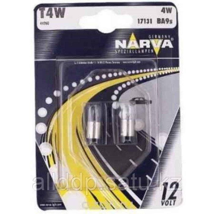 Лампа автомобильная Narva, T4W, 12 В, 4 Вт, (BA9s), набор 2 шт, 17131 (бл.2)