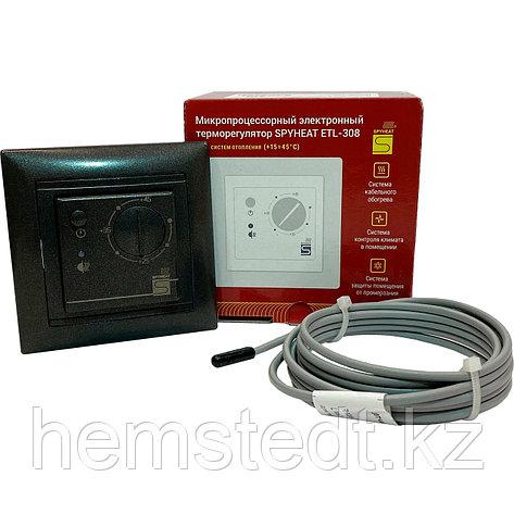 Терморегулятор ETL-308B графит, фото 2