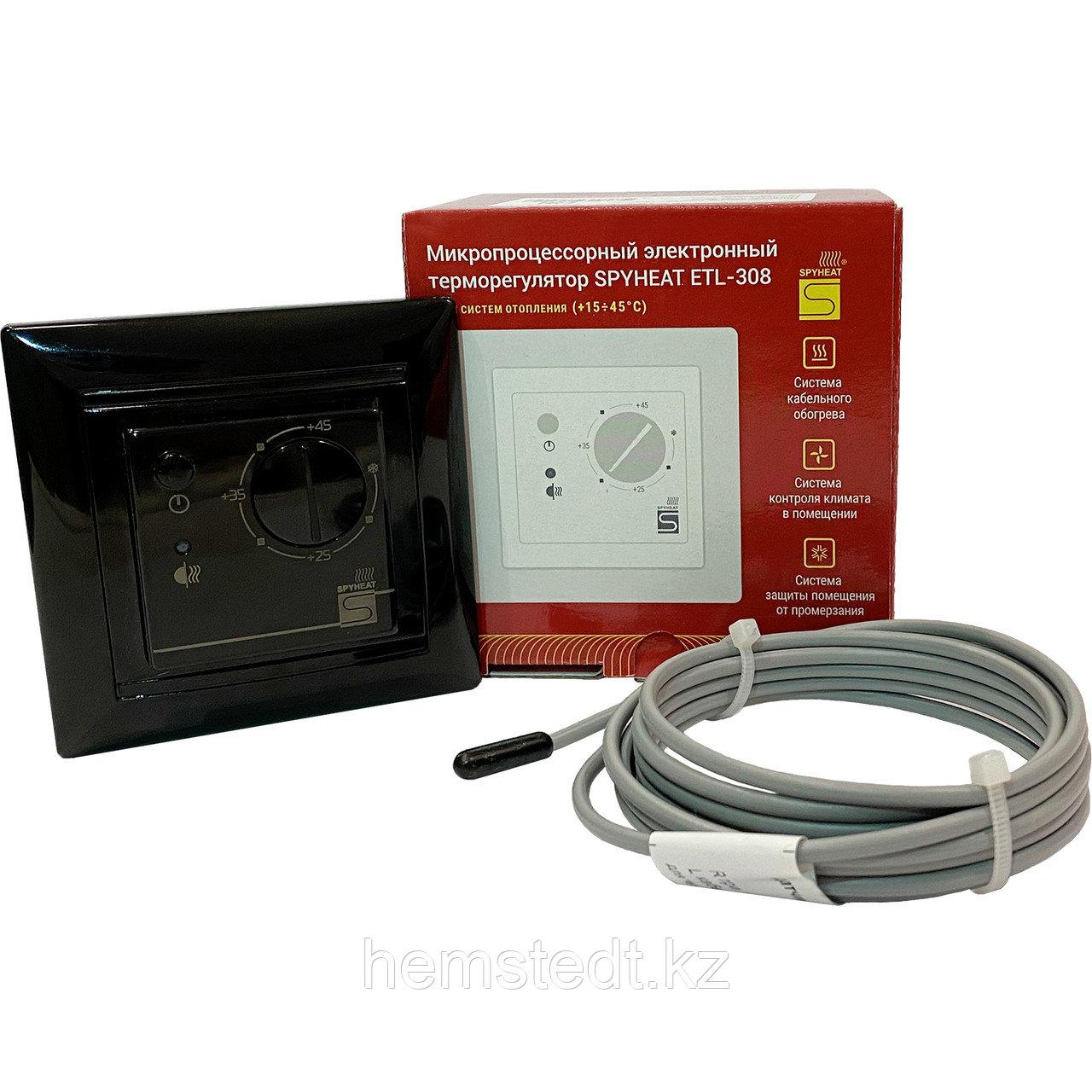 Терморегулятор ETL-308B черный