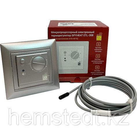 Терморегулятор ETL-308B серебро, фото 2