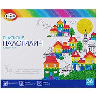 """Пластилин Гамма """"Классический"""", 36 цветов, 720г, со стеком, картон. упак."""