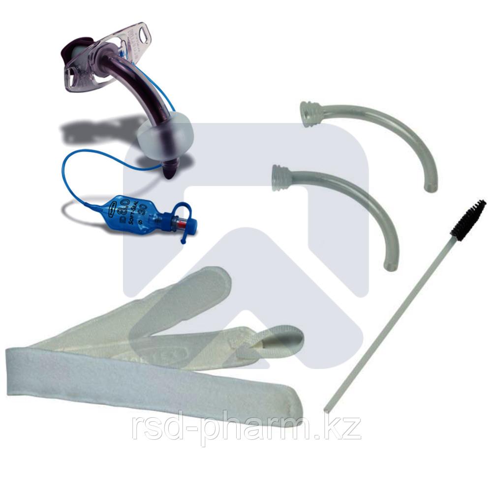 Трахеостомическая трубка Blue Line Ultra 6,0 мм с манжетой , в наборе  с двумя внутренними канюлями