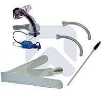 Трахеостомическая трубка Blue Line Ultra 7,5 мм с манжетой, в наборе с двумя внутренними канюлями