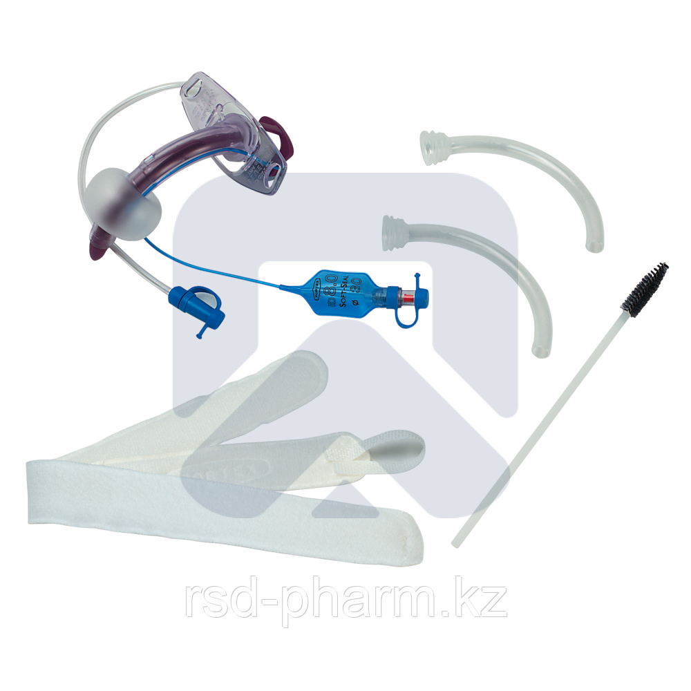 """Трахеостомическая трубка Blue Line Ultra 8,0 мм с манжетой """"Софт Сеал"""", каналом для санации надманжеточного"""