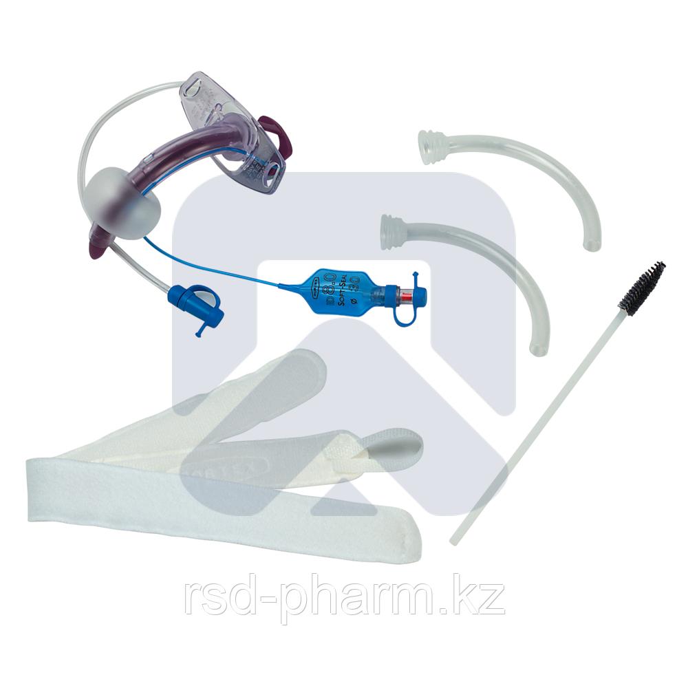 """Трахеостомическая трубка Blue Line Ultra 8,5 мм с манжетой """"Софт Сеал"""", каналом для санации надманжеточного"""