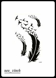 """Водостойкая временная тату- наклейка """"Перелетные птицы"""""""