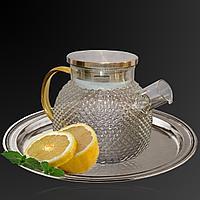 Заварочный стеклянный чайник на 1 литр