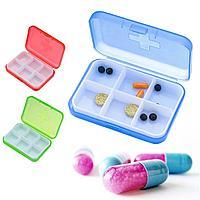 Таблетница дорожная (контейнер для хранения таблеток) цвета в ассортименте