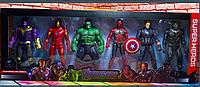 Набор супергероев 6 штук фигурка marvel марвэл супергерой