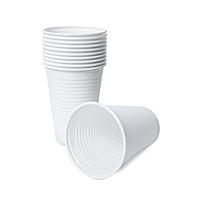 Стакан одноразовый пластиковый белый, 200 мл