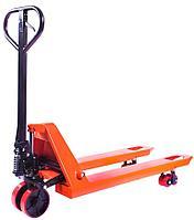 Тележка гидравлическая 2500 кг 1150 мм TOR DF  (полиуретановые колеса)