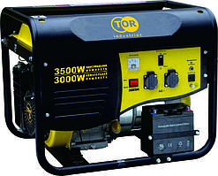 Генератор бензиновый TOR TR3500 3,0кВт 220В 15л  с ручным запуском