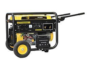 Генератор сварочный TOR TR220W 5,0кВт 220В 25л с  ручным запуском и колесами
