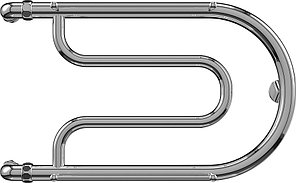 Полотенцесушитель Terminus Фокстрот Aisi 32x2, 32x60 см, нерж. сталь